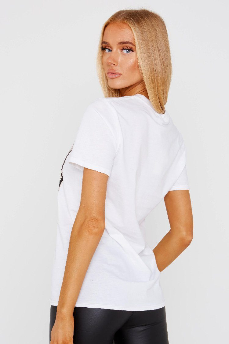 White Paris Slogan T Shirt