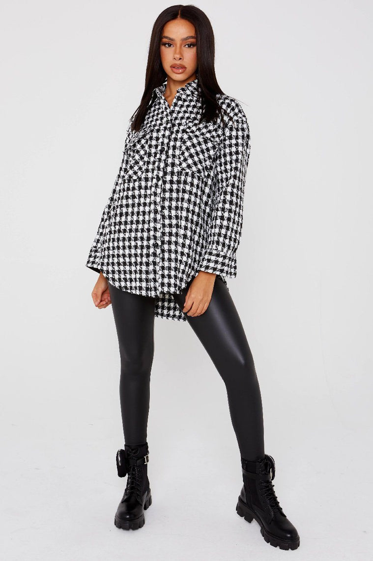 Dogtooth Button Up Shirt