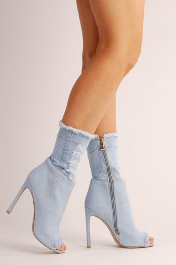 Demi Light Denim Ankle Boot