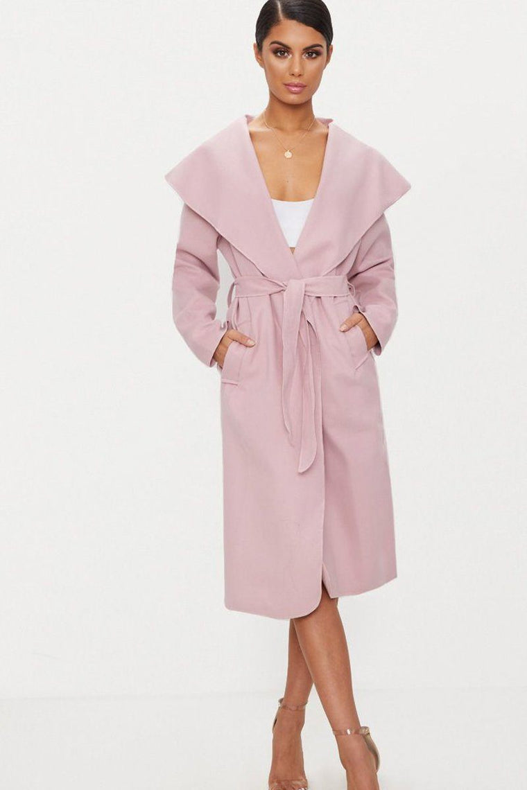 Pink Duster Waterfall Coat