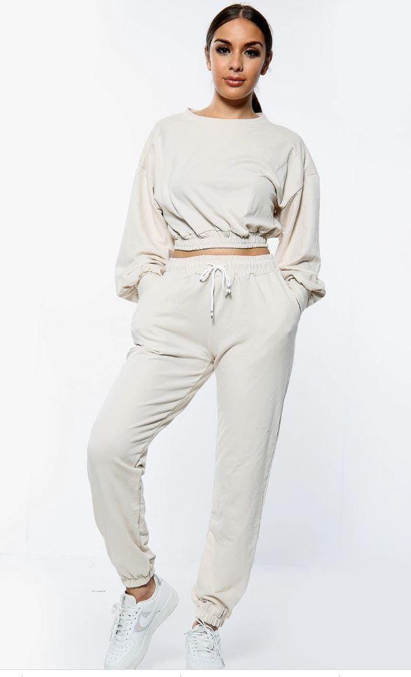 Cropped Sweatshirt Jogger suit