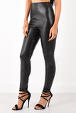 Malani Black Pu Trousers