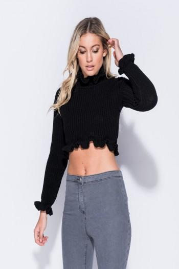 Sally Frill Detail Cropped Jumper