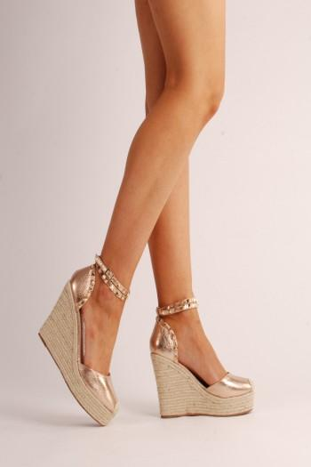 Jade Rose Gold Wedges