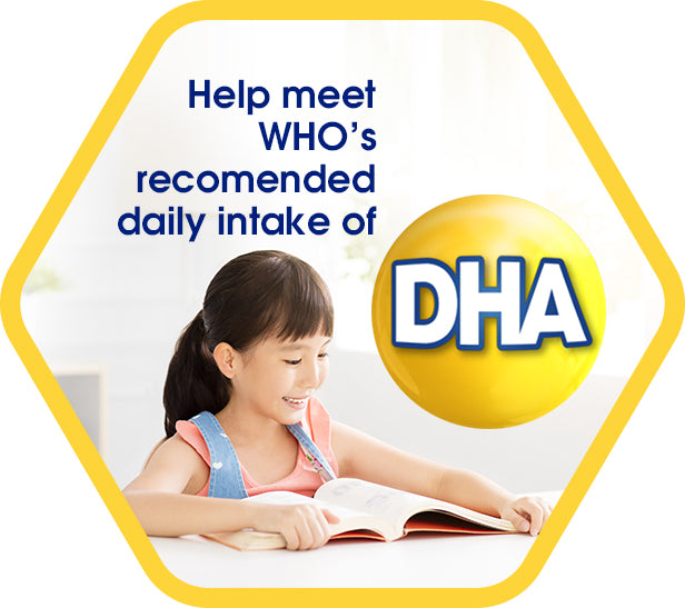 Help meet WHO's recommended daily intake of DHA - a girl reading a book