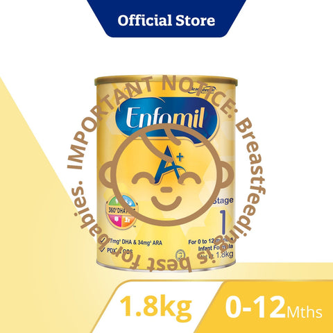 Enfamil A+, Infant Formula, Stage 1 (1.8kg)