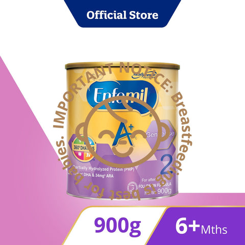 Enfamil A+ Gentlease, Infant Formula, Stage 2 (900g)
