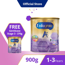 Promo Pack! Enfagrow A+ Gentlease Stage 3 - Easy-to-Digest Formula (900g) + 370g FREE