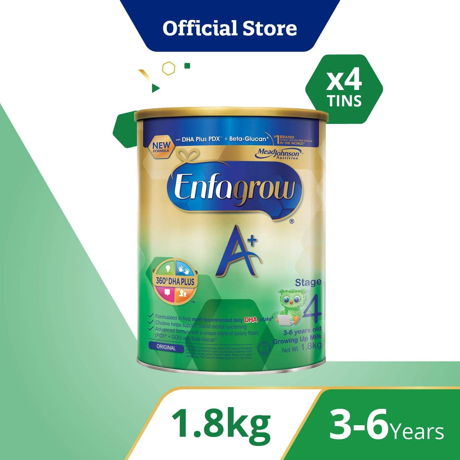 Enfagrow A+ Stage 4 (1.8kg) Bundle of 4