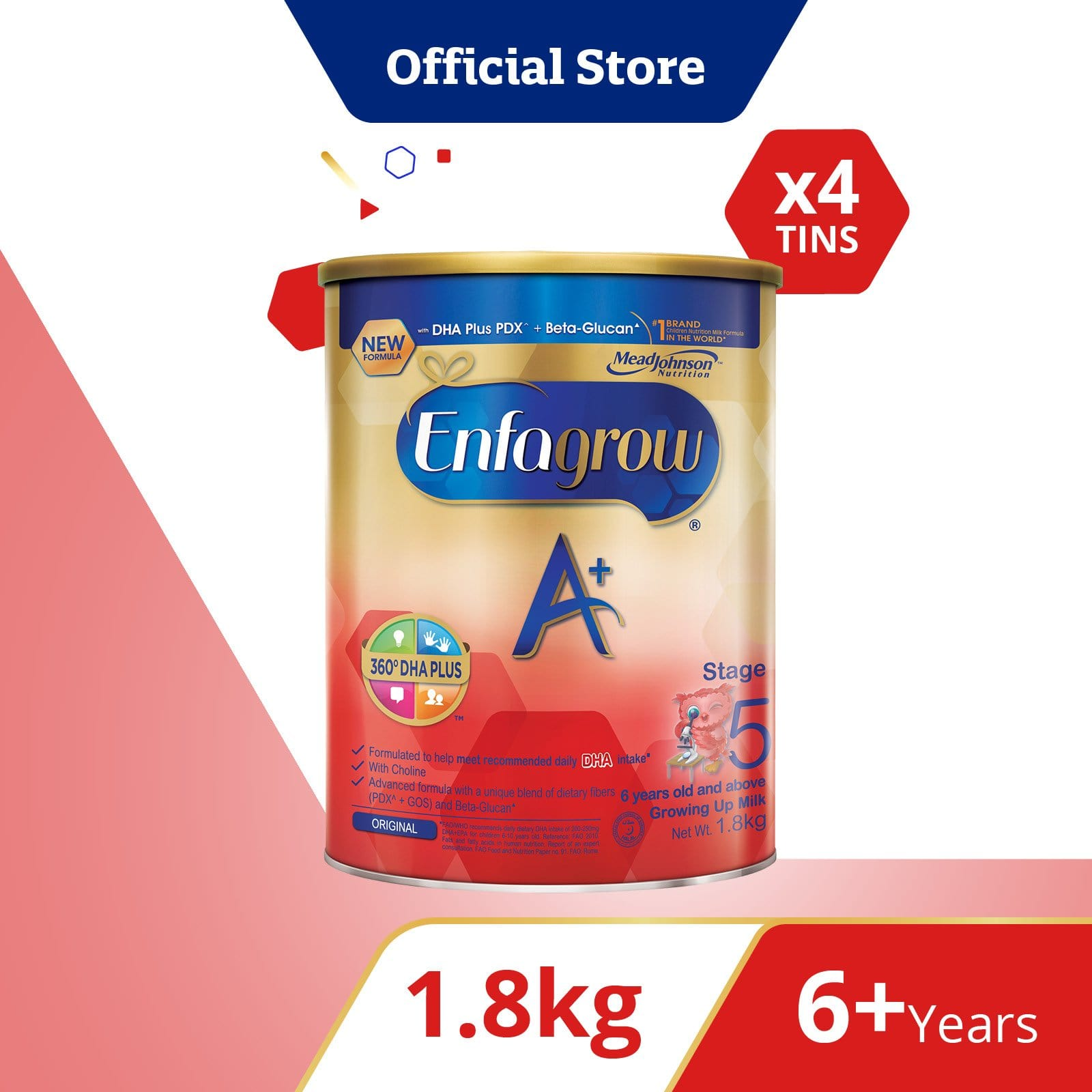 Enfagrow A+ Stage 5 (1.8kg) Bundle of 4