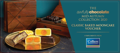 Mooncake Voucher: Awfully Chocolate Classic Baked Mooncake Set of 4