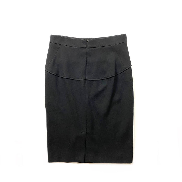 Donna Karan Wool Knee-Length Skirt Black Consignment Shop From Runway With Love
