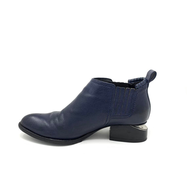 Alexander Wang Ankle Kori Leather Ankle Boots Designer Consignment From Runway With Love