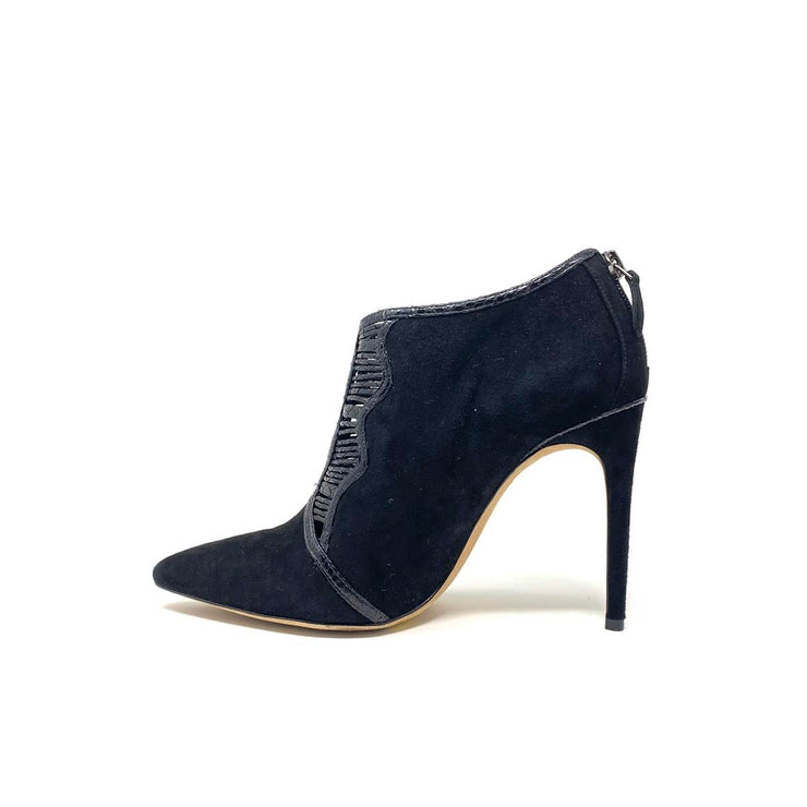 Alexandre Birman Pointed Toe Python Black Snakeskin Booties Suede Consignment Shop From Runway With Love