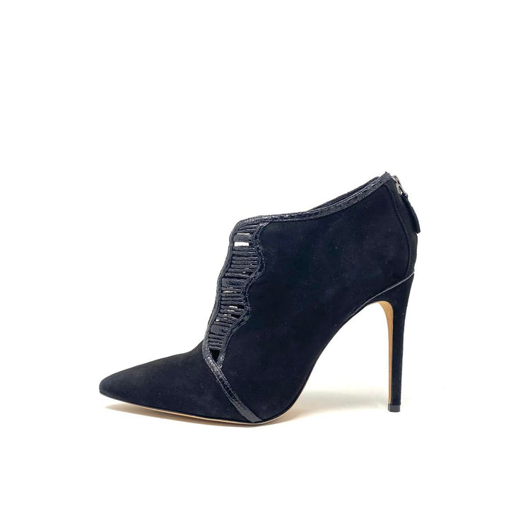Alexandre Birman Pointed Toe Python Booties - Size 36