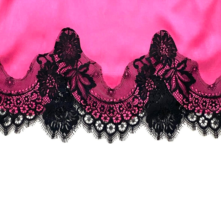 Alice + Olivia Silk Lace Top camisole pink black from runway with love consignment shop