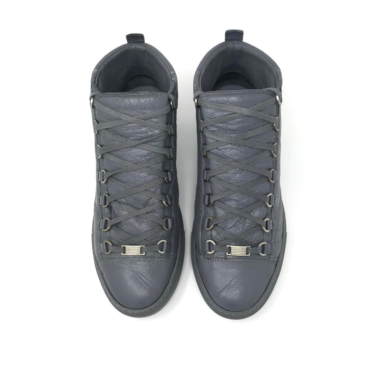 Balenciaga High Top Arena Sneakers in Gray - Size 9