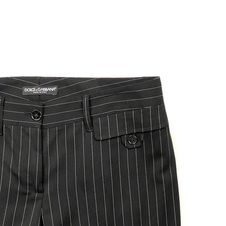 Dolce & Gabbana Black Pinstripe Pants Consignment Shop From Runway With Love