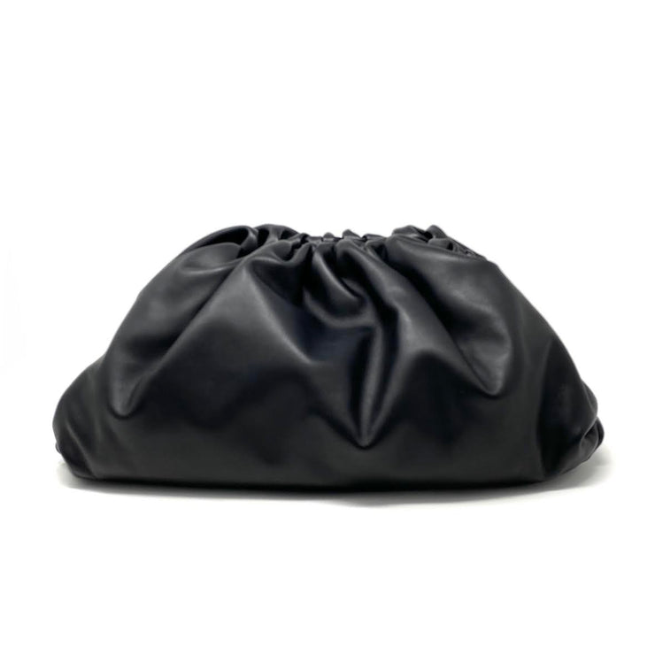 Bottega Veneta The Pouch Clutch Daniel Lee Black Leather Consignment Shop From Runway With Love