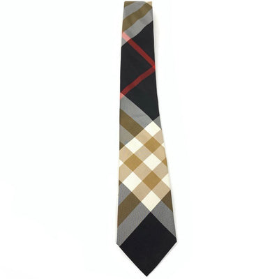 Burberry Silk Check Print Tie Consignment Shop From Runway With Love