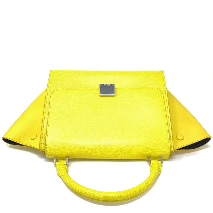 Celine Small Trapeze Bag Yellow Phoebe Philo