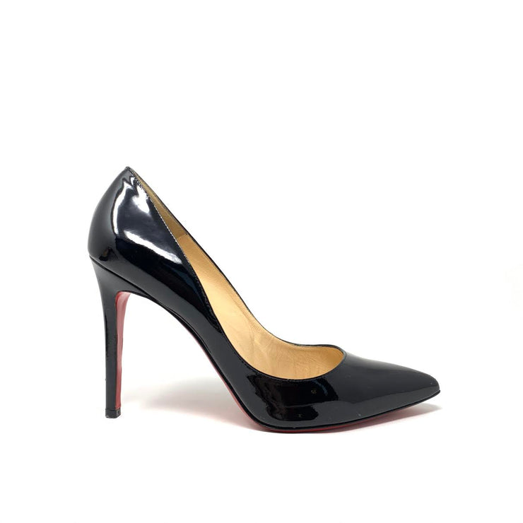 Christian Louboutin Patent Leather Pigalle Follies 100 Pumps Heels Consignment Shop From Runway With Love