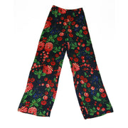 Club Monaco Ahnn high waisted pants in black with multi colored floral print