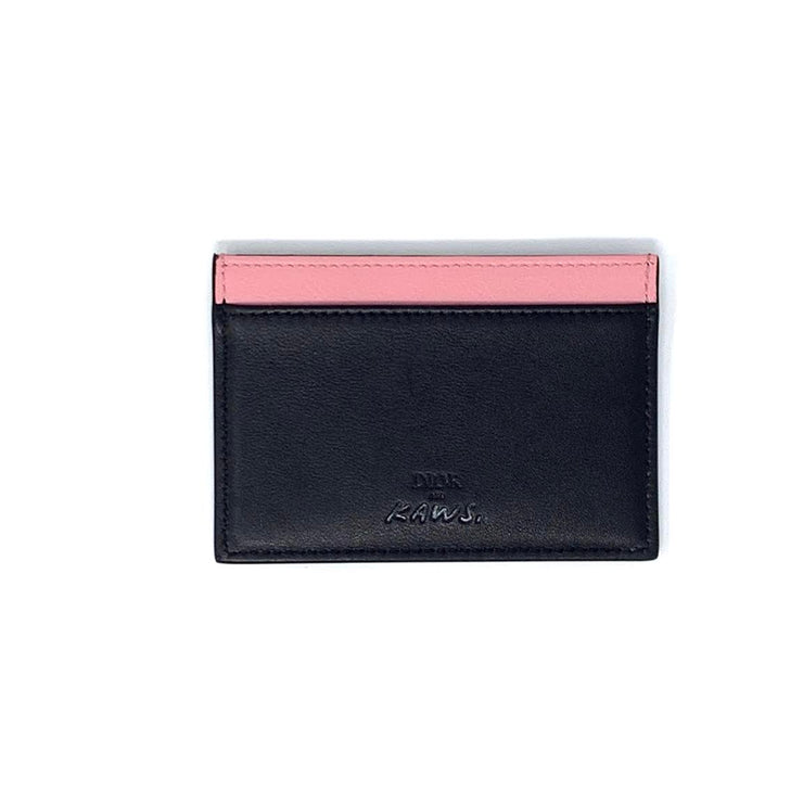 Dior X Kaws Card Holder Pink Bees Designer Consignment From Runway With Love