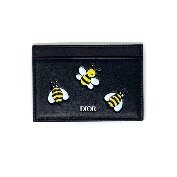 Dior X Kaws Card Holder Yellow Bees Designer Consignment From Runway With Love