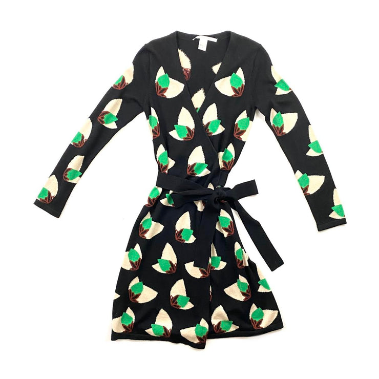 Diane von Furstenberg Wool Wrap Dress Consignment Shop From Runway With Love