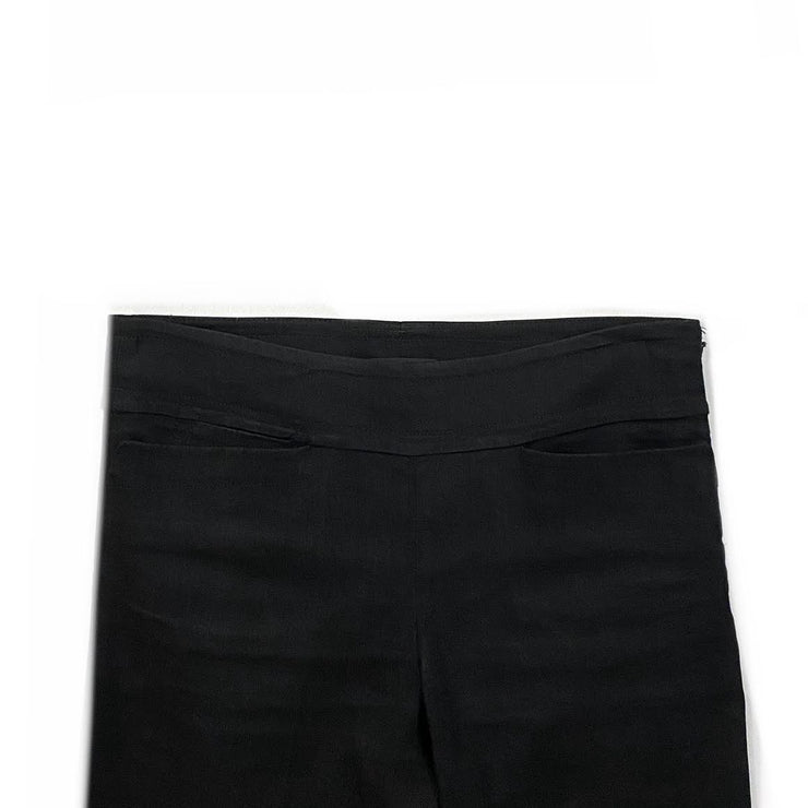 Donna Karan Linen-Blend Mid-Rise Pants  Black Consignment Shop From Runway With Love