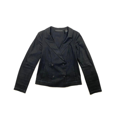 Donna Karan Linen Blazer Jacket Black Consignment Shop From Runway With Love