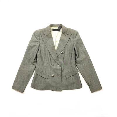 Donna Karan Peak Lapel Wool Blazer Consignment Shop From Runway With Love
