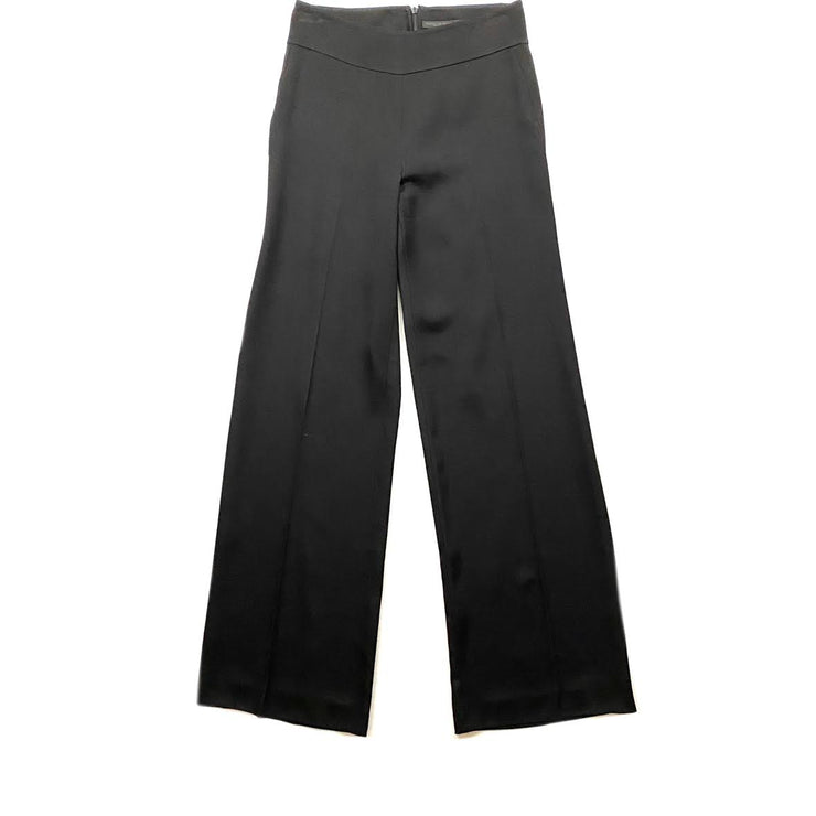 Donna Karan High-Rise Pants Black Wide Leg Consignment Shop From Runway With Love