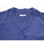 Purple Equipment silk top with long sleeves