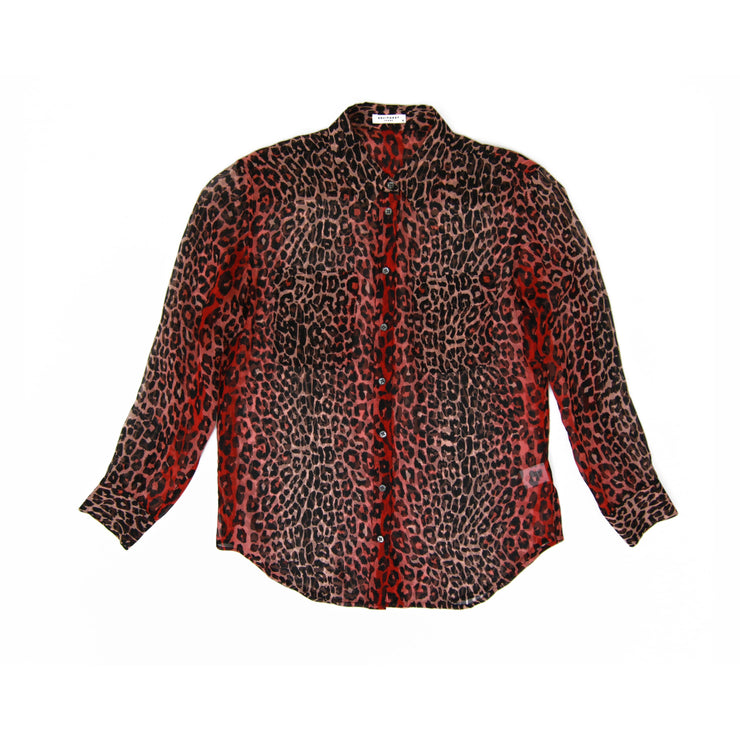 Equipment Shirt with Red leopard print designer consignment