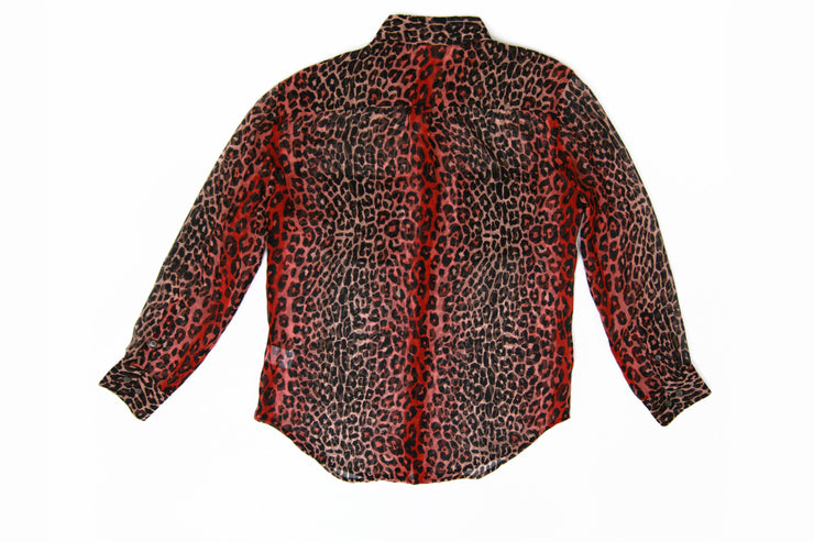 Equipment Shirt with Red leopard print