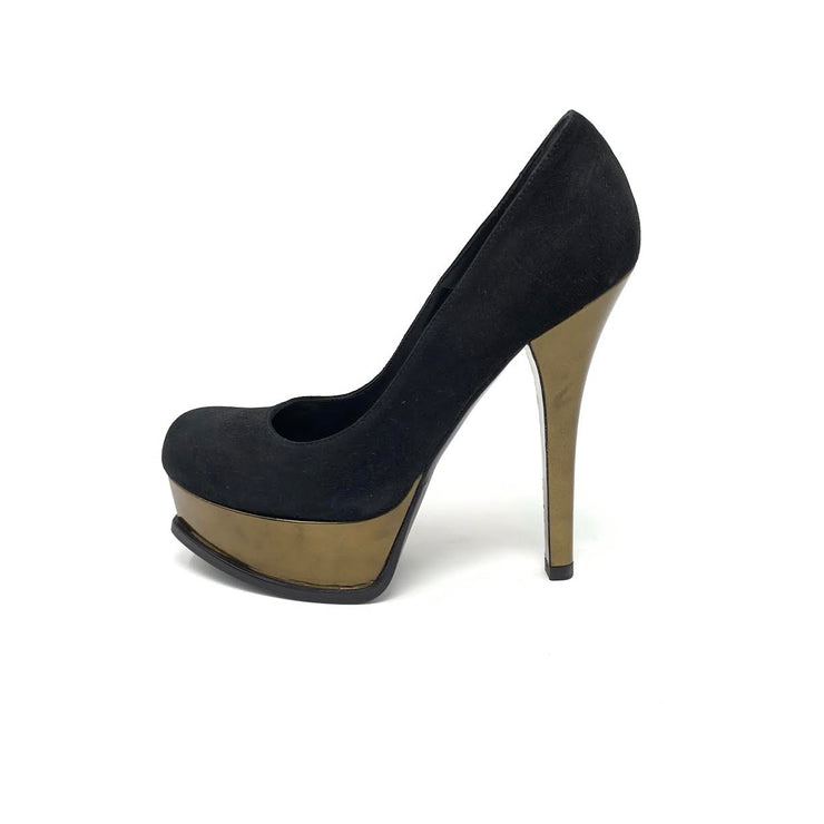 Fendi Platform FF Logo Pumps Designer Consignment From Runway With Love