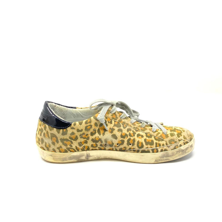 Golden Goose Superstar Low-Top Sneakers Leopard Sparkle Consignment Shop From Runway With Love