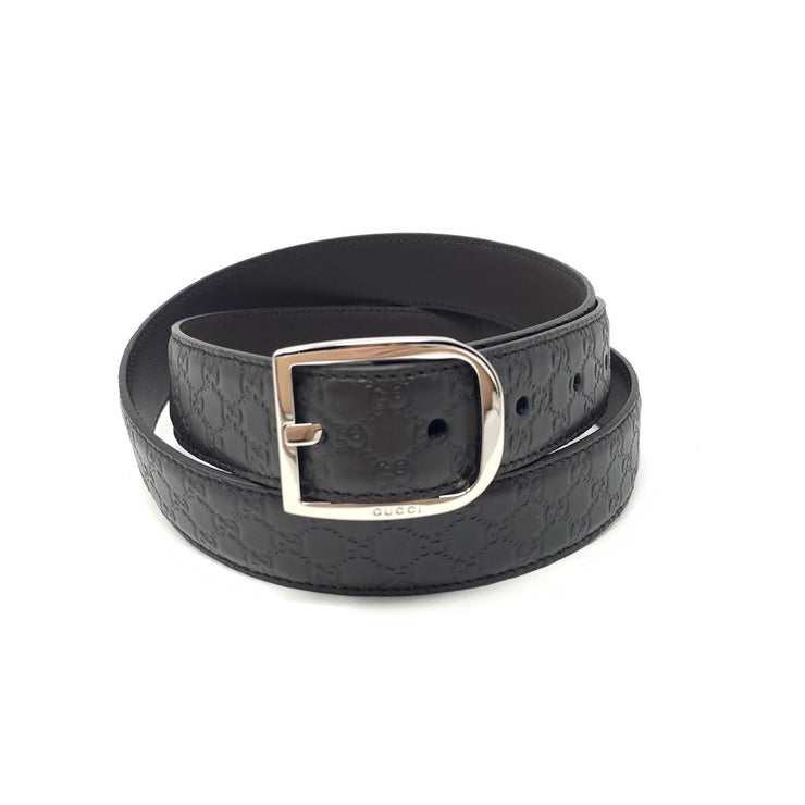 Gucci Brown Guccissima Leather Belt Silver Buckle Consignment Shop From Runway With Love