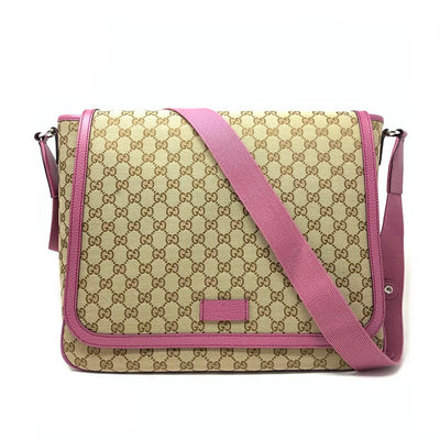 Gucci Diaper Bag- Girls Canvas Mother Baby Gift Pink Consignment Shop From Runway With Love