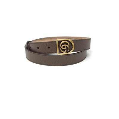 Gucci GG Marmont Leather Belt Brown Gold Consignment Shop From Runway With Love