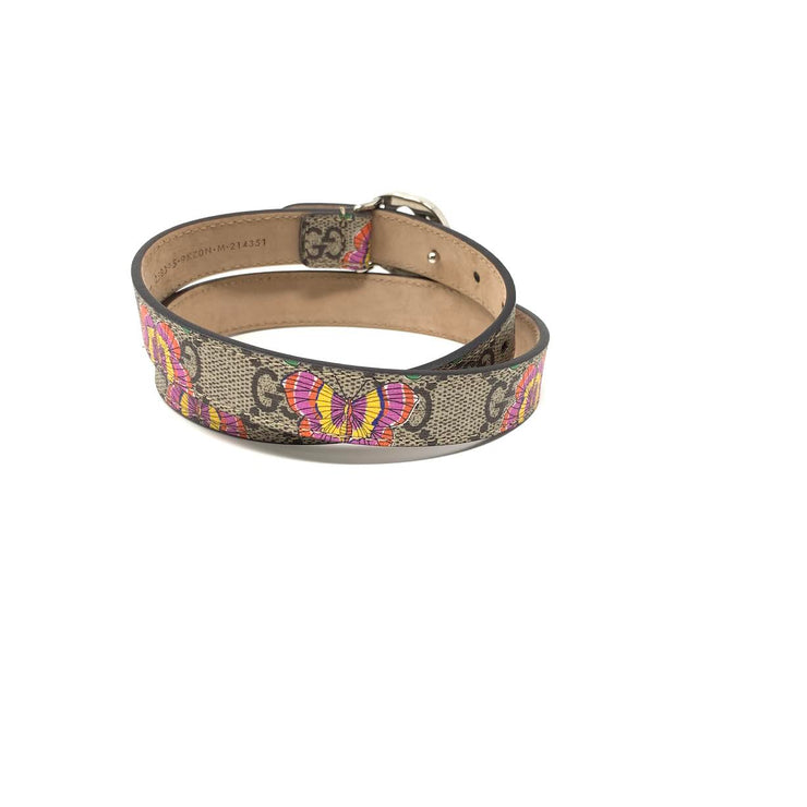 Gucci Girls' Printed GG Supreme Belt Butterfly Consignment Shop From runway With Love
