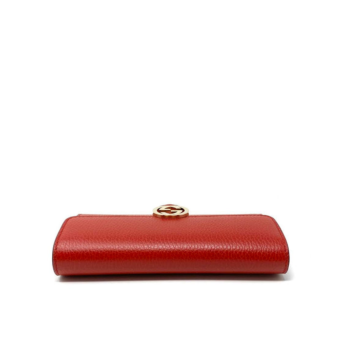red leather Gucci continental interlocking gg wallet Consignment Shop From Runway With Love