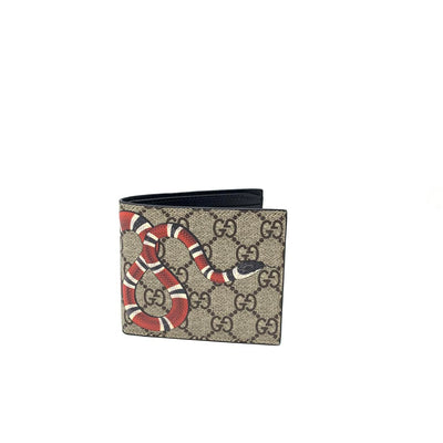 Gucci Kingsnake Supreme Canvas Beige Brown Wallet Consignment Shop From Runway With Love