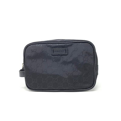 Gucci Black Nylon Toiletry Cosmetic Makeup Bag Consignment Shop From Runway With Love
