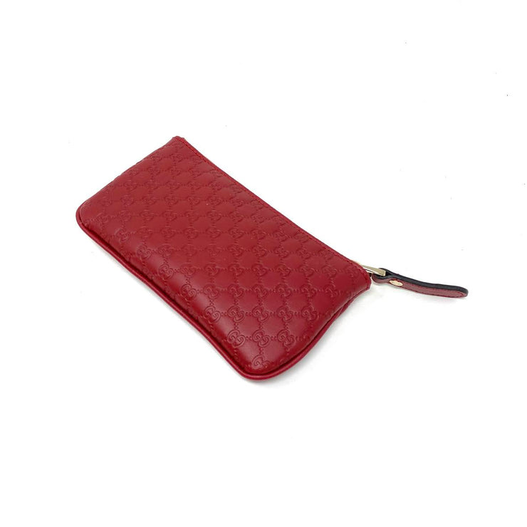red Microguccissima leather Gucci key pouch wallet consignment shop from runway with love