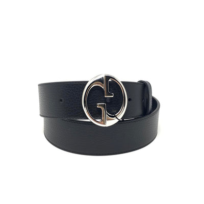 Gucci Reversible Belt Navy Blue Leather Consignment Shop From Runway With Love