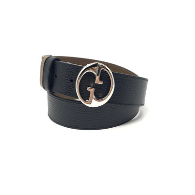 Gucci Reversible Belt Brown Black Interlocking GG Marmont Consignment Shop From Runway With Love