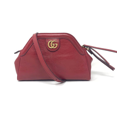 Gucci Small Red Leather Re(Belle) Shoulder Bag Marmont Consignment Shop From Runway With Love